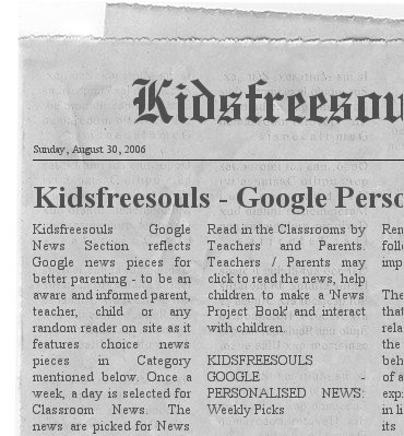 Kidsfreesouls-Google Personalized News: KIDS