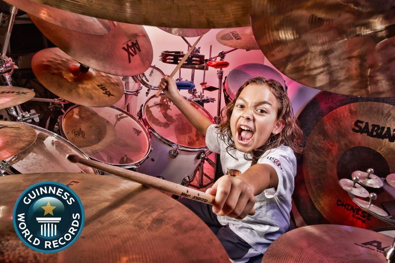 Julian Pavone - Youngest Drummer