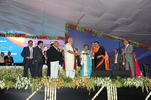 Narendra Modi inaugurates the Vibrant Gujarat Global Trade Show
