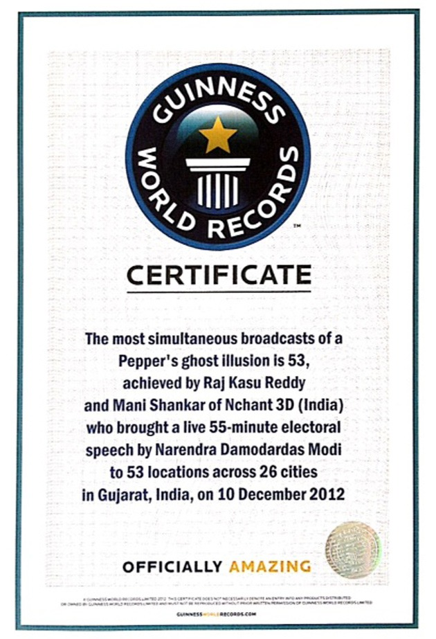 CM's 3D interaction during elections creates Guinness World Record