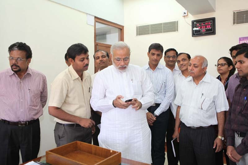 CM Narendra Modi launched the Mobile Website of Gujarat Information Department