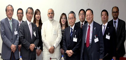 Japan's Friendship Exchange Council meet Gujarat CM Narendra Modi