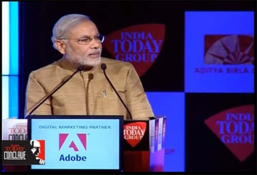 NaMo Mantra: CM speaks at India Today Conclave 2013