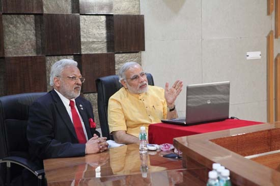 CM interact with Newton Leroy Gingrich on skype