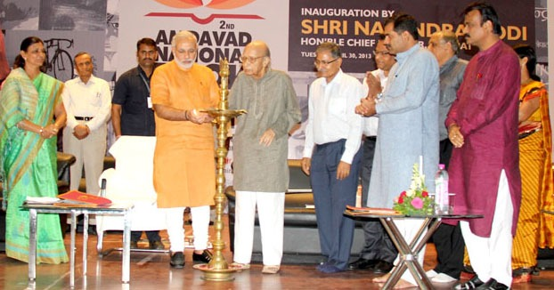 CM inaugurates Amdavad Book Fair 2013