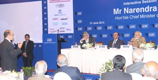 CM addresses Industry Leaders at CII in Mumbai
