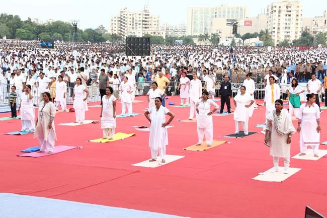 "International Yoga Day :""Gujarat to make Yoga asana routine affair in cities and towns"""